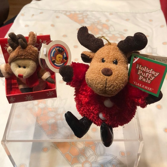 starbucks bearista magnet and holiday puffy pals